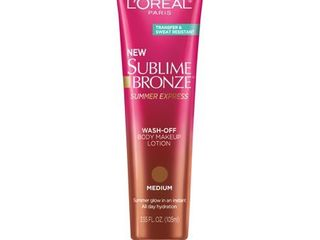 l OrAcal Paris Sublime Bronze Summer Express Wash Off Body Makeup lotion M   3 78 fl oz