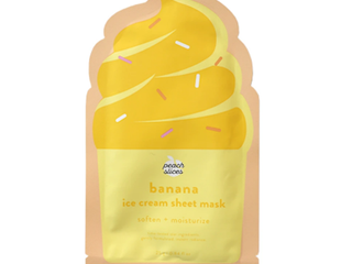 Peach Slices Banana Ice Cream Sheet Mask Soften Moisturize 0 84 fl oz