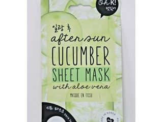 Oh K  After Sun Cucumber Sheet Mask with Aloe Vera 0 67 fl oz