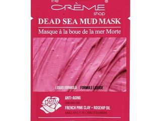The Creme Shop   Dead Sea Facial Mud Mask French Pink Clay   Rosehip Oil   0 35 oz