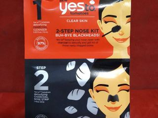 Yes To Tomatoes 2 Step Single Use Nose Kit Buh Bye Blackheads
