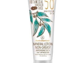 Australian Gold Botanical Mineral Sunscreen Tinted Face Sunscreen lotion   SPF50   3oz