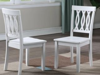 Porch   Den Nella White Side Chair  Set of 2  Retail 129 99