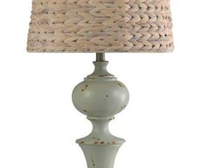 Retta 26 H Gray Resin and Seagrass Table lamp   26 H x 14 Rnd  Retail 83 99