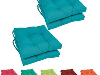Blazing Needles 16 inch Square Chair Cushions  Set of 4