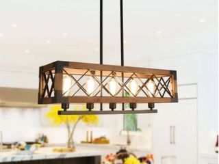 Black Kitchen Island lighting  linear Dining Room Chandelier  Adjustable  Retail 244 99