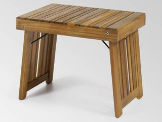 Teak Finish  Kyoto Outdoor Acacia Wood Folding Side Table by Christopher Knight Home