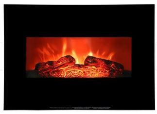 1400w Electric Wall mounted Fireplace Fake Wood with Heating Wire Black   26  Retail 99 49