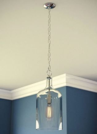 Strick   Bolton levine Chrome 1 light Mini Pendant