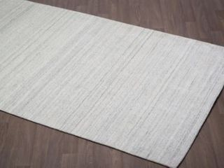 Soft Solid Handmade Wool Viscose Rug  Retail 298 99