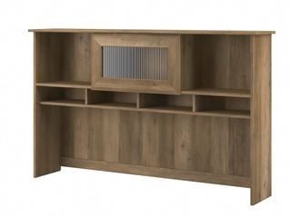 Bush Furniture Cabot 60 inchW Hutch  Reclaimed Pine