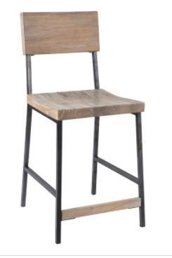 The Gray Barn Buffalo Horn Grey Counter Stool   Retail 159 99