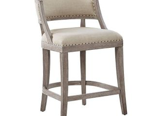 Madison Park Wheatley Natural Counter Stool   Retail 388 49