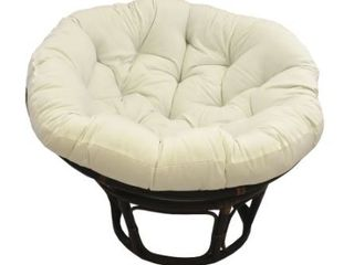 Natural  Blazing Needles 52 inch Solid Twill Papasan Cushion  Retail 107 49  Base Not Included