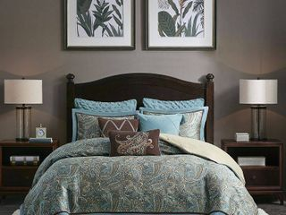 Hampton Hill lauren Blue King Comforter Set  Retail 466 64