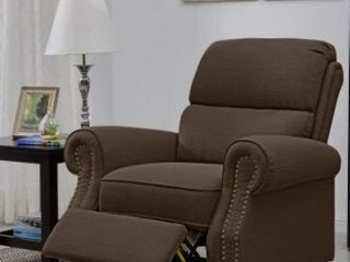 Copper Grove Jessie Brown linen Push Back Recliner Chair  Retail 433 99