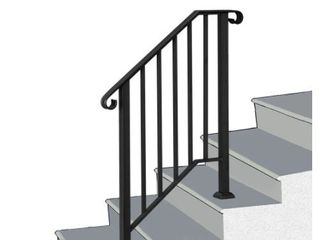 Metal Transitional Handrail Stair Railing Fits level Surface fit 1 to 3 Steps  Retail 169 99