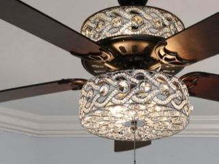 River of Goods 52  luxe Enlaced Crystal lED Ceiling Fan with light
