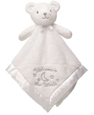 little Me Welcome to the World Bear Snuggle Buddy Security Blanket