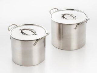 Cook Pro 8 Quart and 12 Quart Stainless Steel Stock Pots With lids