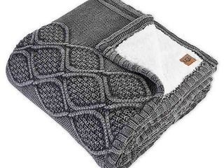 UGG Boulder Throw Blanket in Charcoal