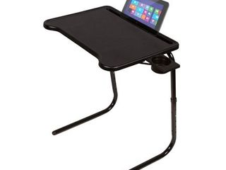 Table Mate Ultra  Folding TV Tray with Device Holder  Black