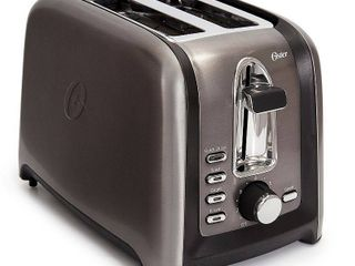 Oster Black Stainless Collection 2 Slice Toaster   Stainless Steel   Black