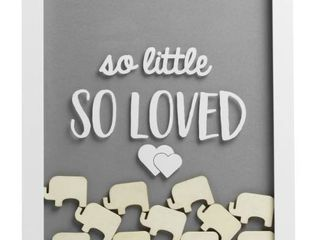 Pearhead little Wishes Signature Guestbook Photo Frame   Gray White