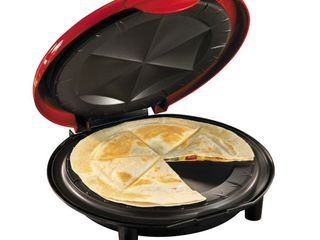 Nostalgia EQM200 6 Wedge Electric Quesadilla Maker with Extra Stuffing latch