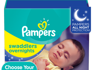 Pampers Swaddlers Soft and Absorbent Overnights Diapers  Size 4  58 Ct
