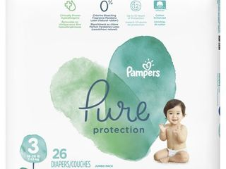 Pampers Pure Protection Diapers Size 3 26 Count