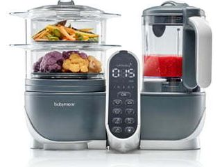 Babymoov Duo Meal Station   6 in 1 Food Maker with Steam Cooker  Blend   Puree  9 cups