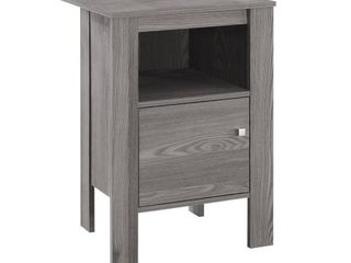 Accent Table Night Stand   Gray   EveryRoom