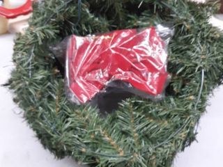 18 inch Pre lite Battery operated Wreaths  set Of 3  Christmas