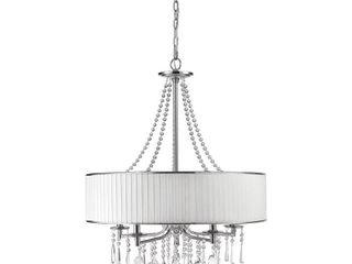 Silver Orchid Ilyinsky 5 light Drum Shade Chandelier