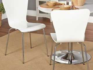 Pisa Bentwood Chair  Set of 2  White
