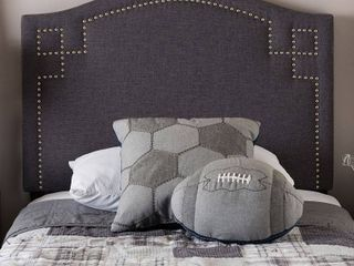 Baxton Studio Aubrey Modern and Contemporary Upholstered Twin Size Headboard  Multiple Finishes