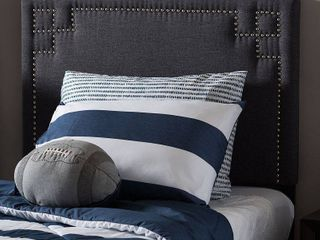 Baxton Studio Geneva Modern and Contemporary Upholstered Twin Size Headboard  Multiple Finishes
