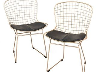 Simple living Newton Wire Chair  Set of 2