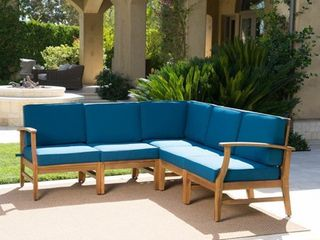 Perla Outdoor Acacia Wood Chair with Cushion by Christopher Knight Home NOT Complete Set
