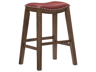 Whitby Saddle Seat Stool Red Bar Height 29 32 in