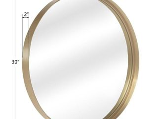 20 30  Round Art Wall Mirror Metal Frame for Entryways Washrooms living Rooms Decor