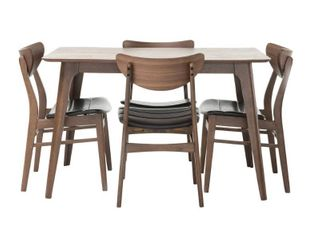 Anise Wood Rectangular Dining Chairs  2  by Christopher Knight Home