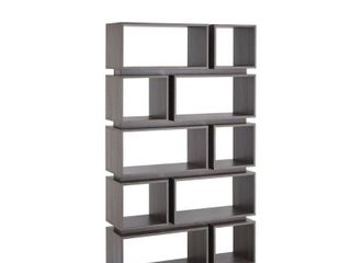 Furniture of America Niti Rustic Grey 10 shelf Open Bookcase NOT Complete Box 1 of 2 Only