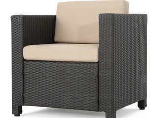 Puerta Outdoor Wicker Club Chair with Cushions by Christopher Knight Home  3 Total Chairs  YES 3 Chairs We Found More