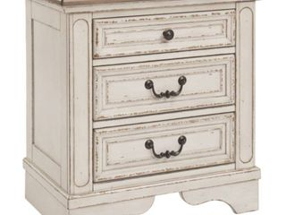 Realyn Nightstand Antique Antique White Farmhouse