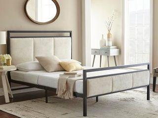Sleep Sync Sheldon Queen Platform Bed   Retails for over  700