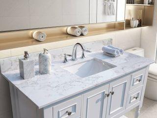 TiramisuBest 43 x22 bathroom vanity tops with sink and back splash