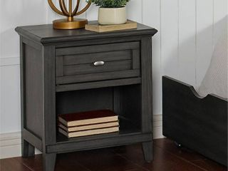 Furniture of America Wese Transitional Grey Solid Wood Nightstand