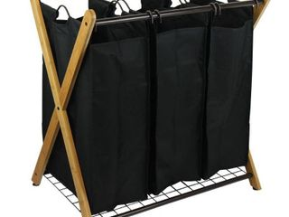 OceanStar Design Group X Frame Bamboo 3 Bag laundry Sorter